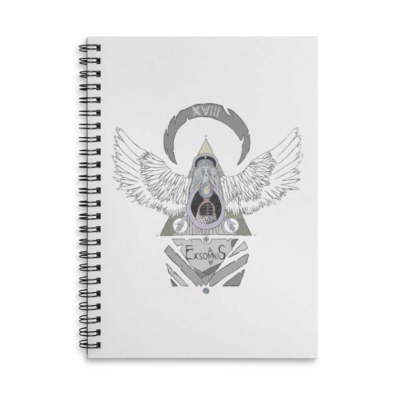 Exomnis Accessories Lined Spiral Notebook by Manaburn's Shop