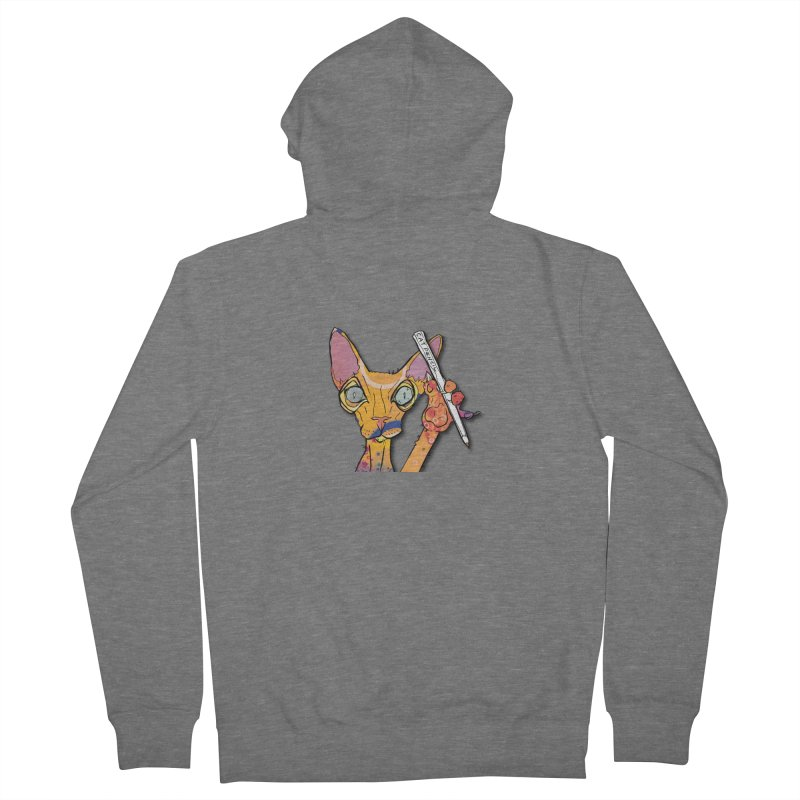 cat pencil  Women's Zip-Up Hoody by mandascats's Shop