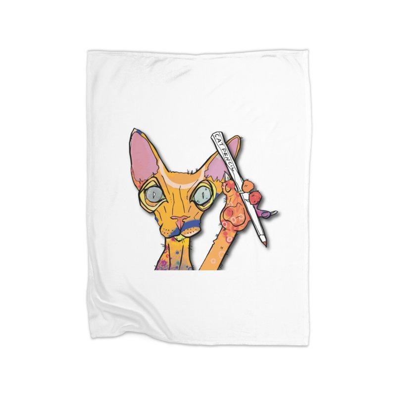 cat pencil  Home Blanket by mandascats's Shop