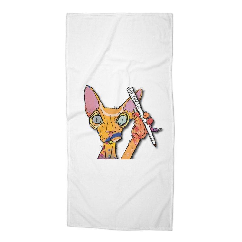 cat pencil  Accessories Beach Towel by mandascats's Shop