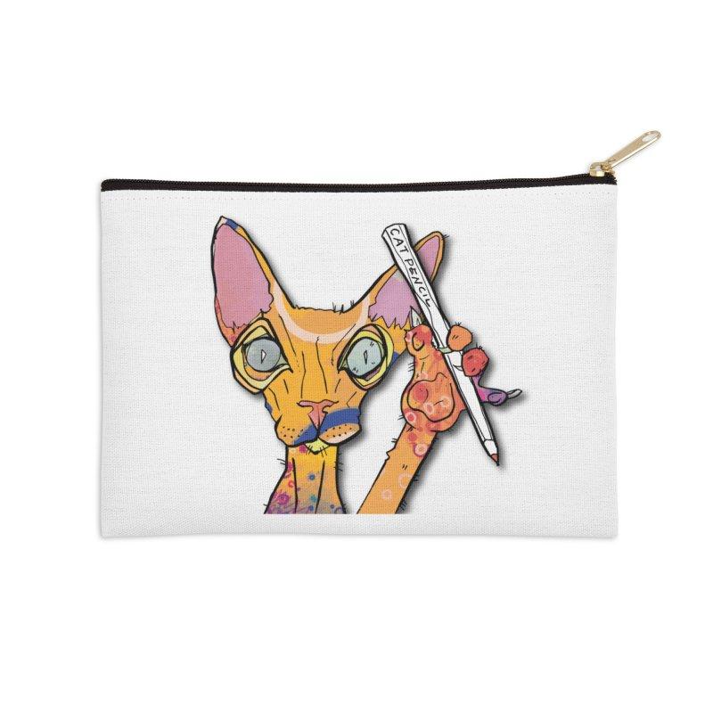 cat pencil  Accessories Zip Pouch by mandascats's Shop