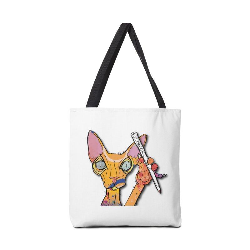 cat pencil  Accessories Bag by mandascats's Shop