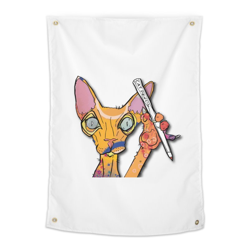 cat pencil  Home Tapestry by mandascats's Shop