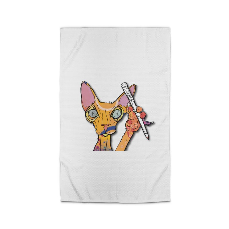 cat pencil  Home Rug by mandascats's Shop