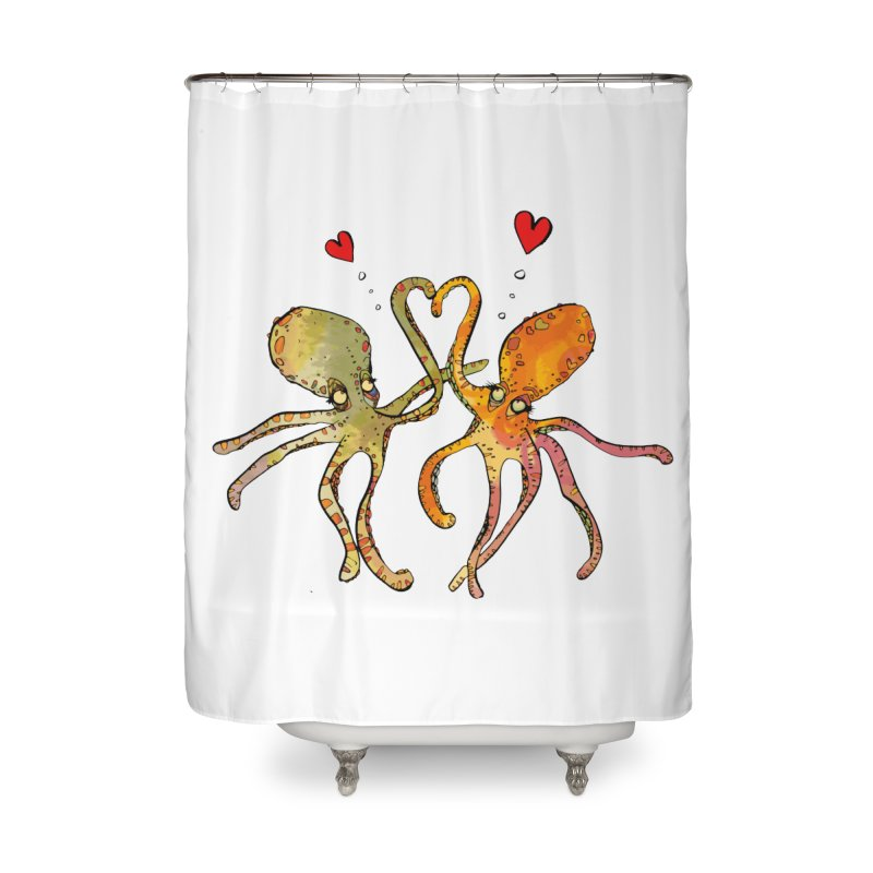 Underwater Love  Home Shower Curtain by mandascats's Shop
