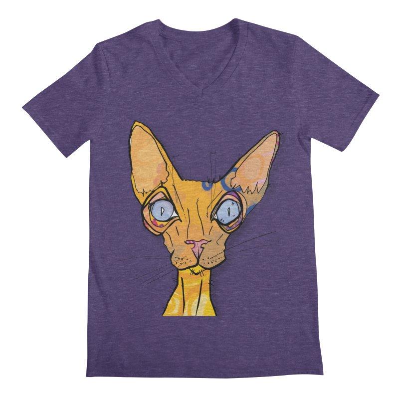 Sammy Cat  Men's V-Neck by mandascats's Shop