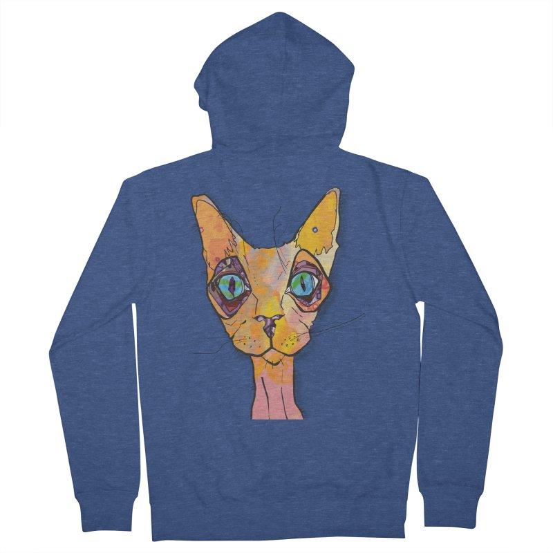 Stuwy Cat Men's Zip-Up Hoody by mandascats's Shop
