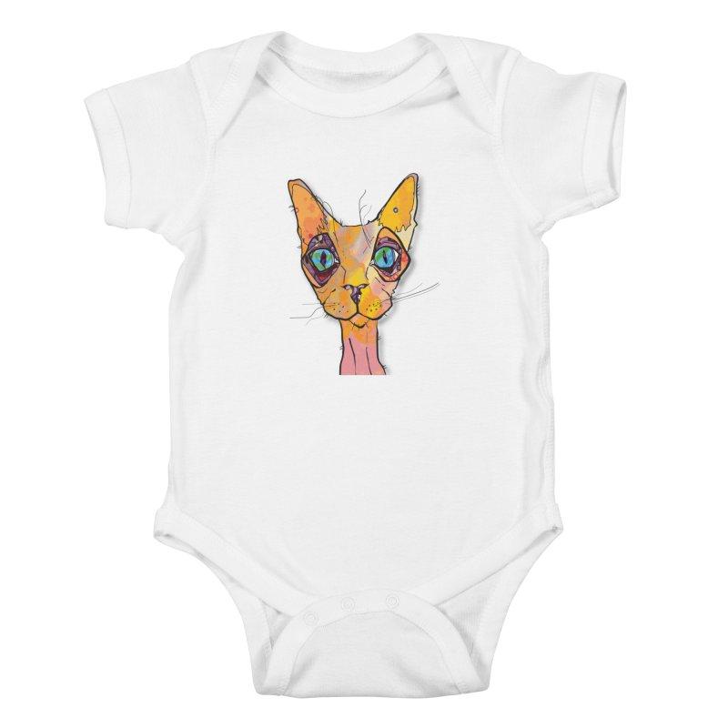 Stuwy Cat Kids Baby Bodysuit by mandascats's Shop