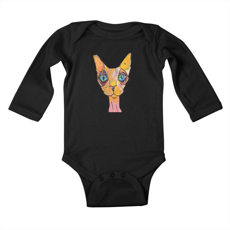 Stuwy Cat Kids Baby Longsleeve Bodysuit by mandascats's Shop