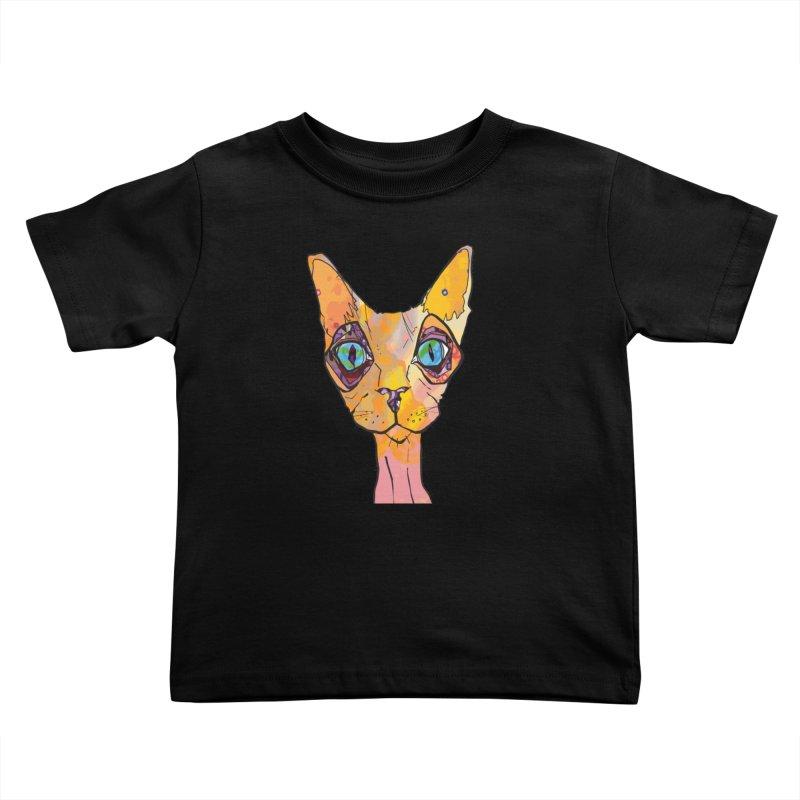 Stuwy Cat Kids Toddler T-Shirt by mandascats's Shop