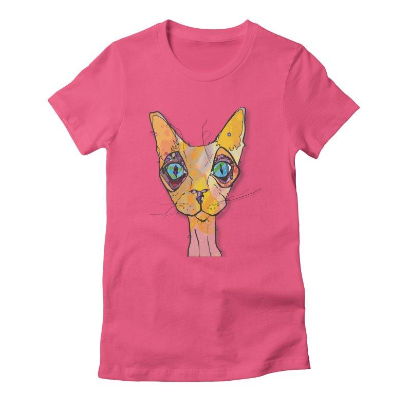 Stuwy Cat Women's T-Shirt by mandascats's Shop