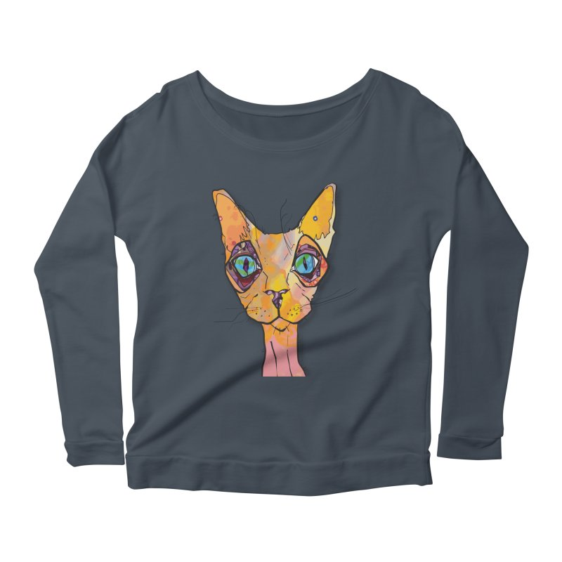 Stuwy Cat Women's Longsleeve T-Shirt by mandascats's Shop