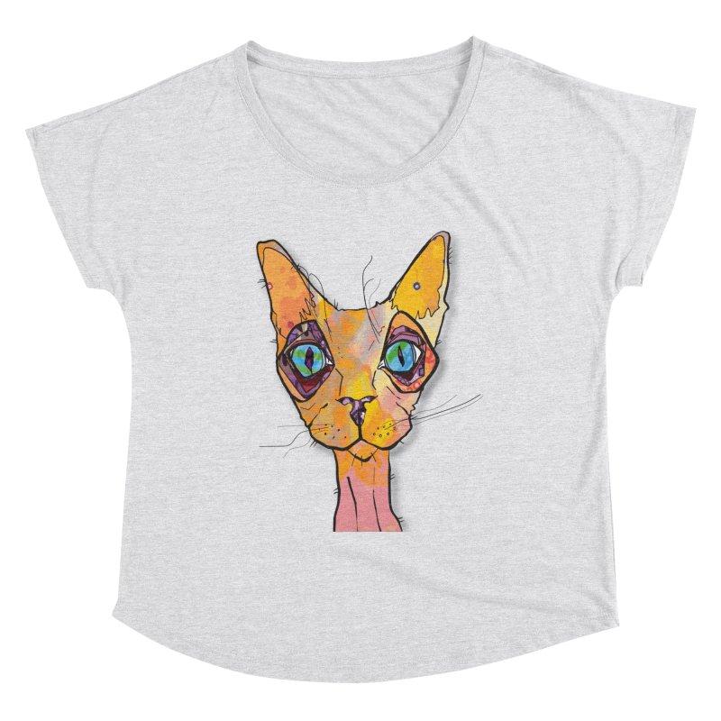 Stuwy Cat Women's Scoop Neck by mandascats's Shop