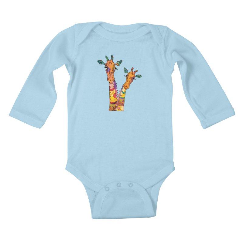 Cat Slides  Kids Baby Longsleeve Bodysuit by mandascats's Shop