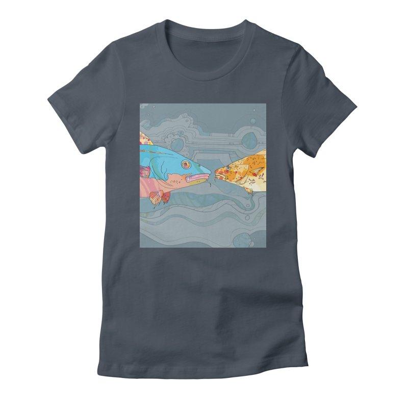 Cod Heads  Women's T-Shirt by mandascats's Shop