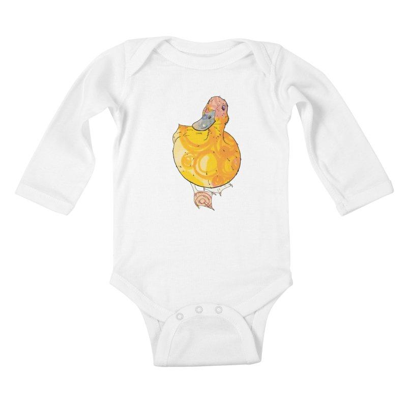 DUCK Kids Baby Longsleeve Bodysuit by mandascats's Shop