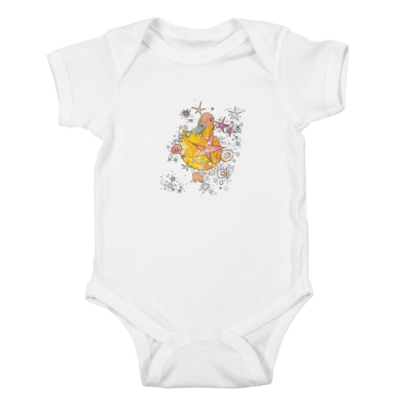Duck with stars  Kids Baby Bodysuit by mandascats's Shop