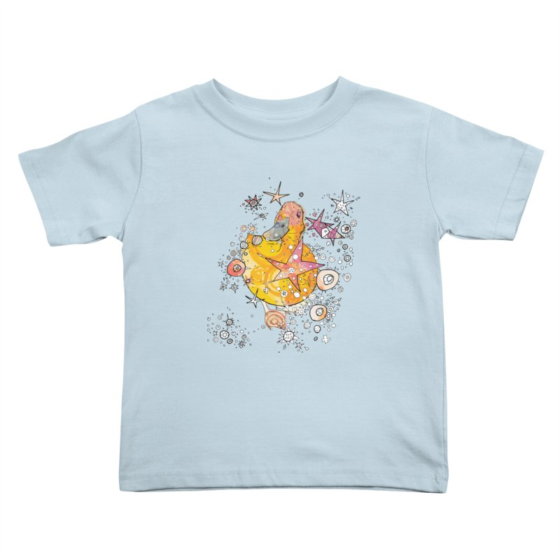 Duck with stars  Kids Toddler T-Shirt by mandascats's Shop