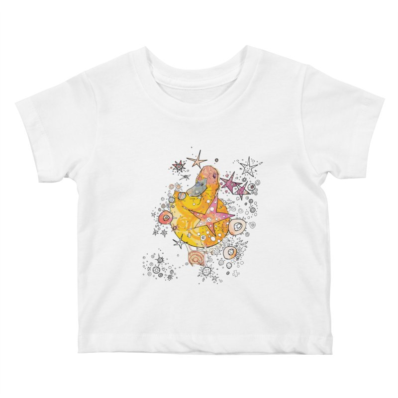 Duck with stars  Kids Baby T-Shirt by mandascats's Shop
