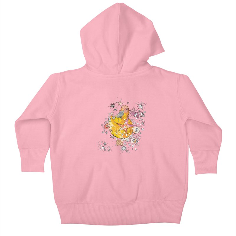 Duck with stars  Kids Baby Zip-Up Hoody by mandascats's Shop