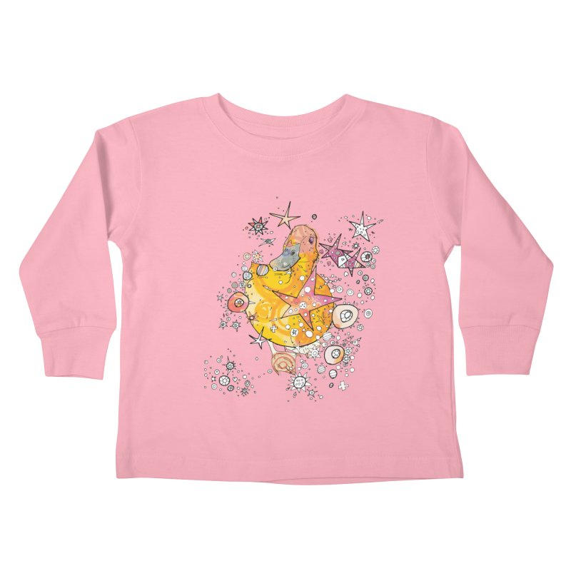 Duck with stars  Kids Toddler Longsleeve T-Shirt by mandascats's Shop