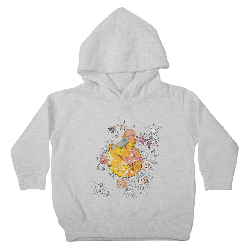 Duck with stars  Kids Toddler Pullover Hoody by mandascats's Shop