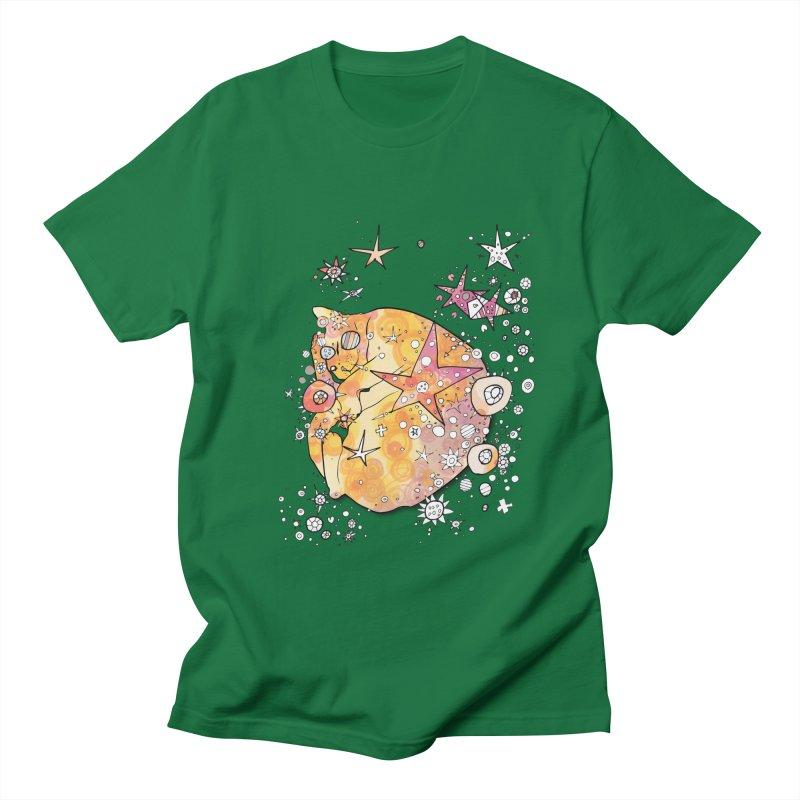 Cat with stars  Men's T-Shirt by mandascats's Shop