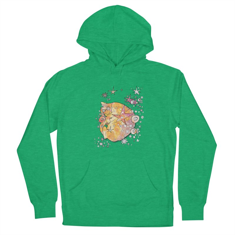 Cat with stars  Men's Pullover Hoody by mandascats's Shop