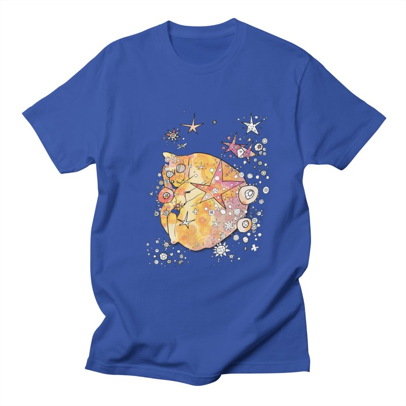 Cat with stars  Men's T-Shirt by mandascats's Shop
