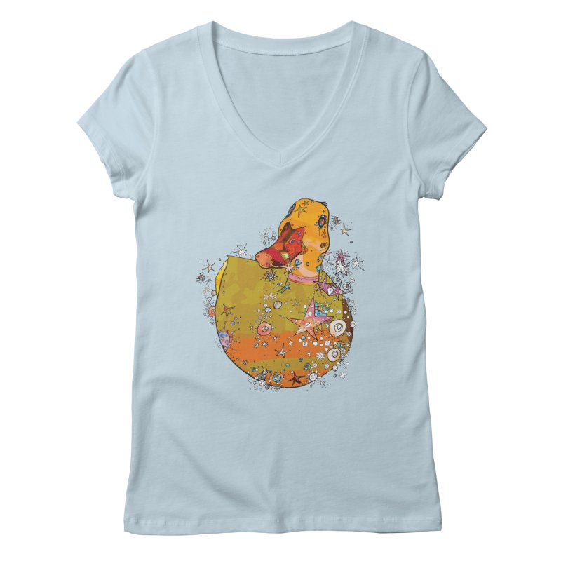 Hook a Duck Women's V-Neck by mandascats's Shop