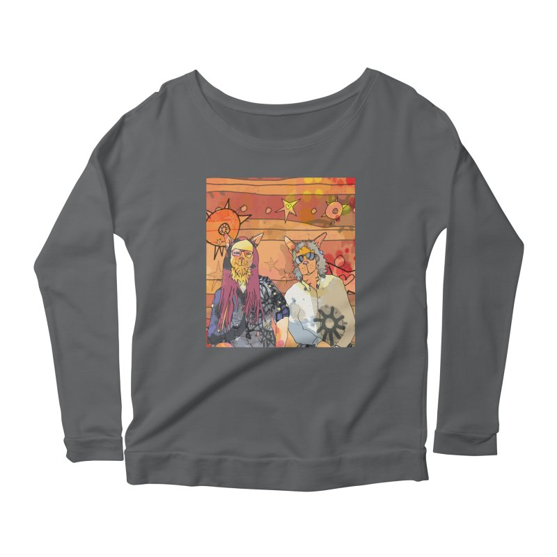 Gordon's Cats  Women's Longsleeve T-Shirt by mandascats's Shop