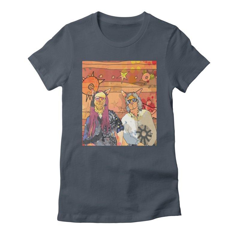Gordon's Cats  Women's T-Shirt by mandascats's Shop