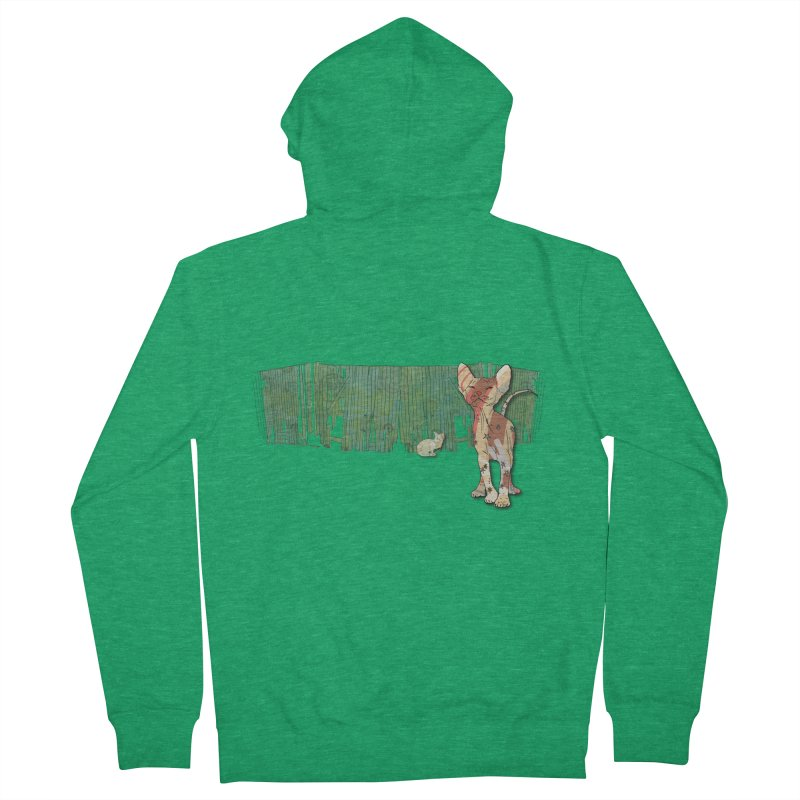 Fence Cats  Women's Zip-Up Hoody by mandascats's Shop