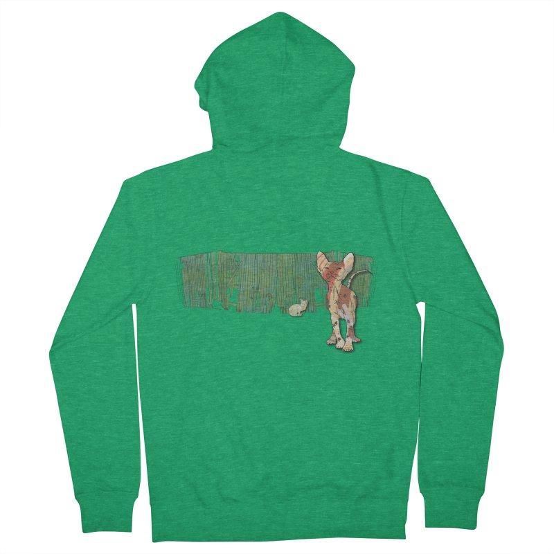 Fence Cats  Men's Zip-Up Hoody by mandascats's Shop