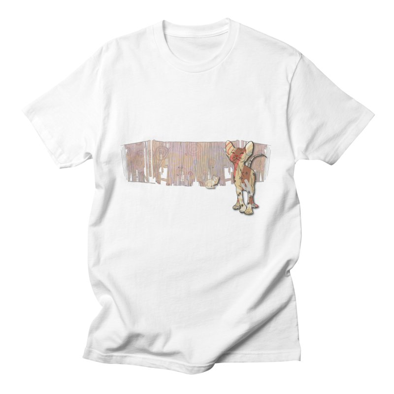 Fence Cats  Men's T-Shirt by mandascats's Shop