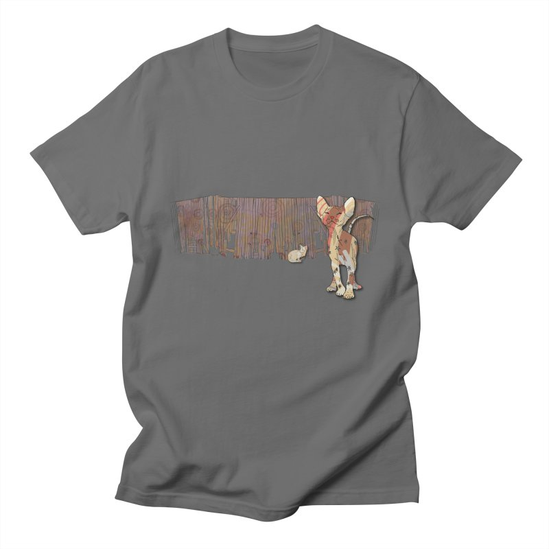 Fence Cats  Men's T-Shirt by mandascats's Shop