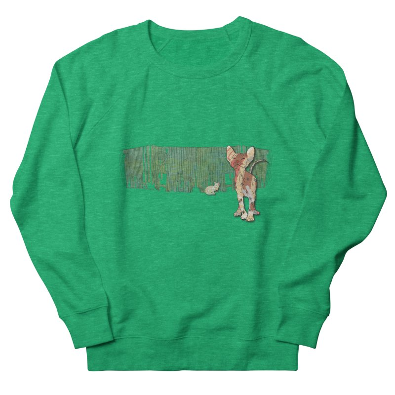 Fence Cats  Women's Sweatshirt by mandascats's Shop