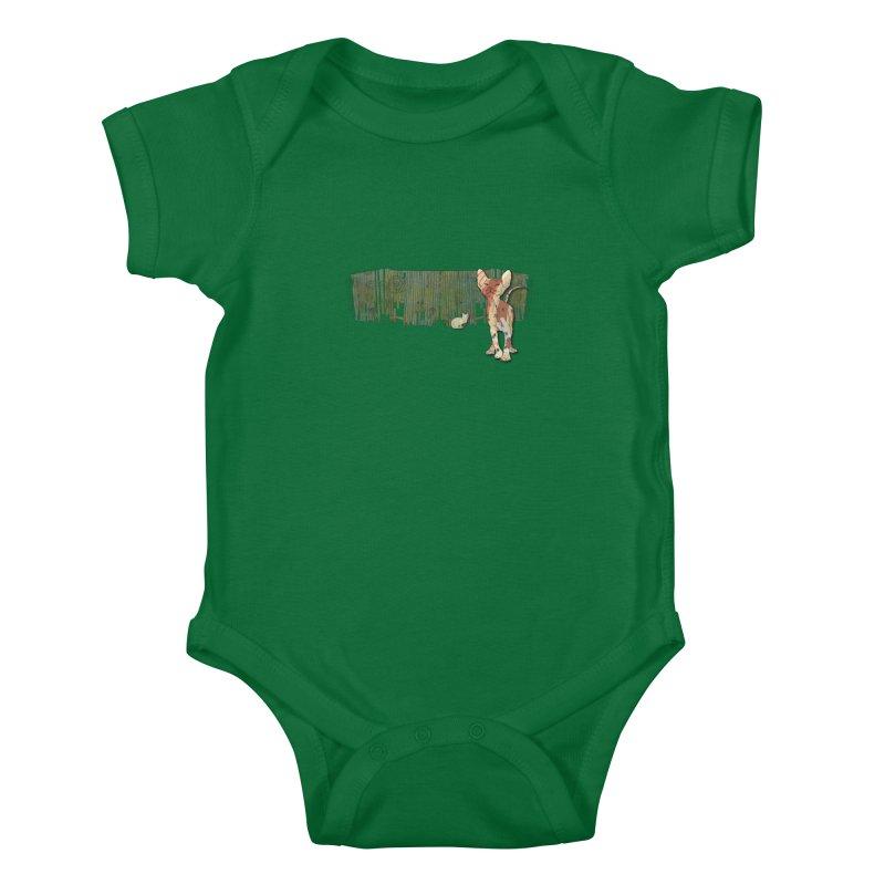 Fence Cats  Kids Baby Bodysuit by mandascats's Shop