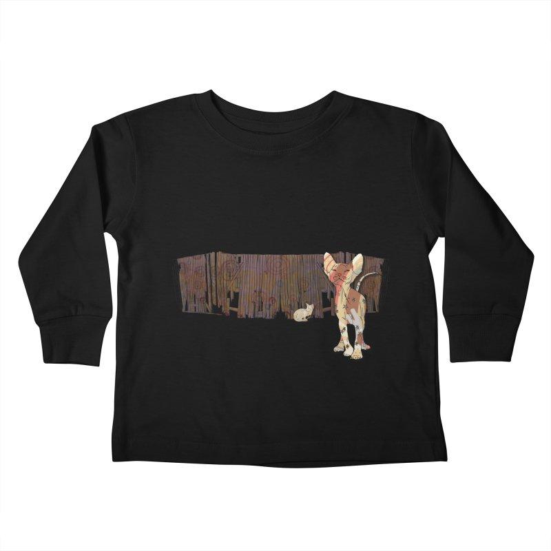 Fence Cats  Kids Toddler Longsleeve T-Shirt by mandascats's Shop