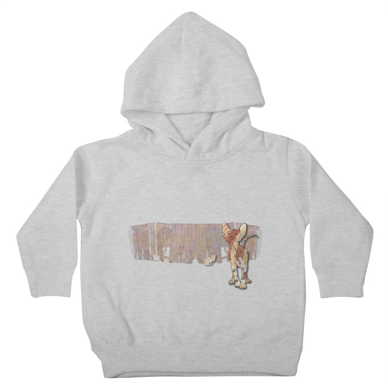 Fence Cats  Kids Toddler Pullover Hoody by mandascats's Shop