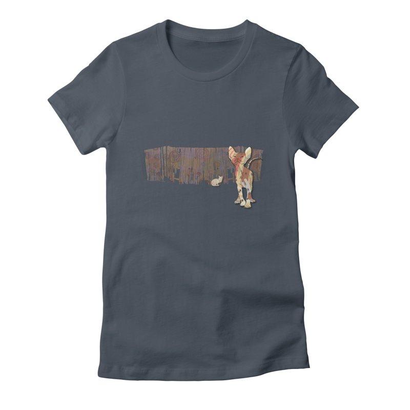 Fence Cats  Women's T-Shirt by mandascats's Shop