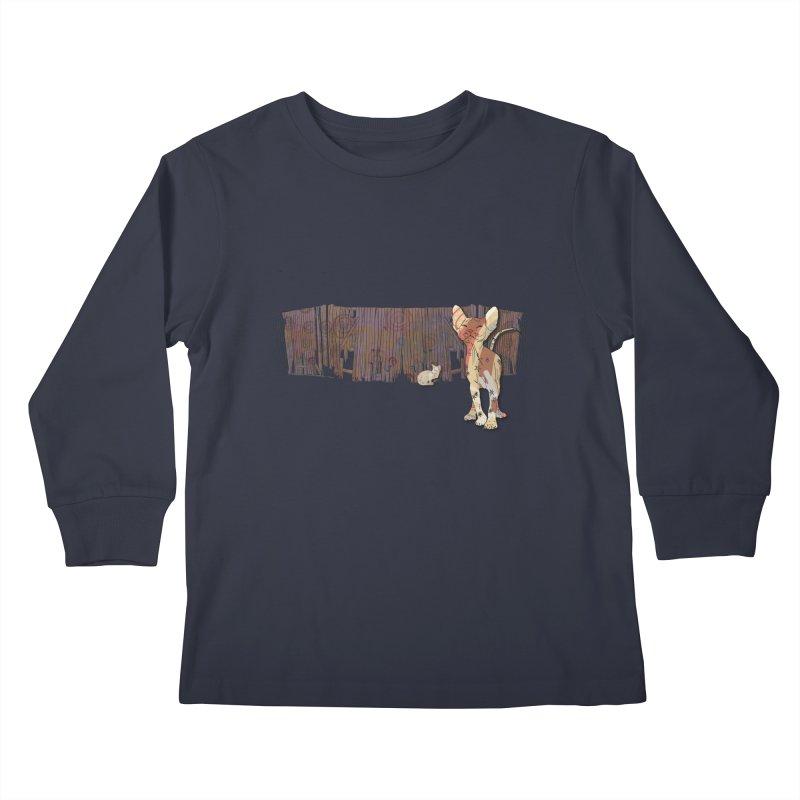 Fence Cats  Kids Longsleeve T-Shirt by mandascats's Shop