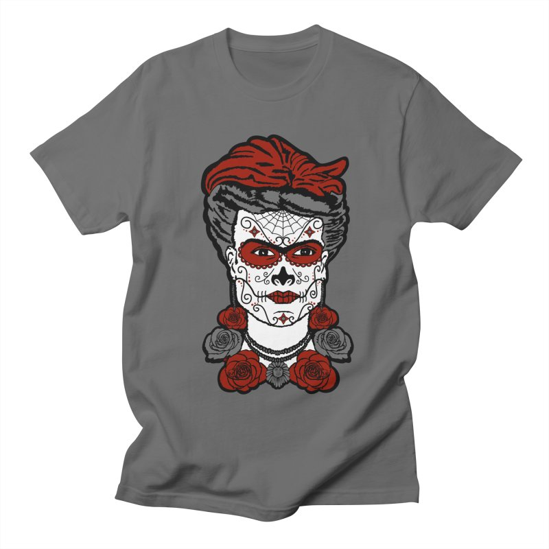 Frida De Los Muertos in Men's Regular T-Shirt Asphalt by Armando Padilla Artist Shop