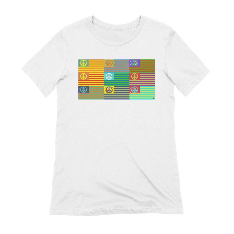 United Peace Flag Women's Extra Soft T-Shirt by Armando Padilla Artist Shop