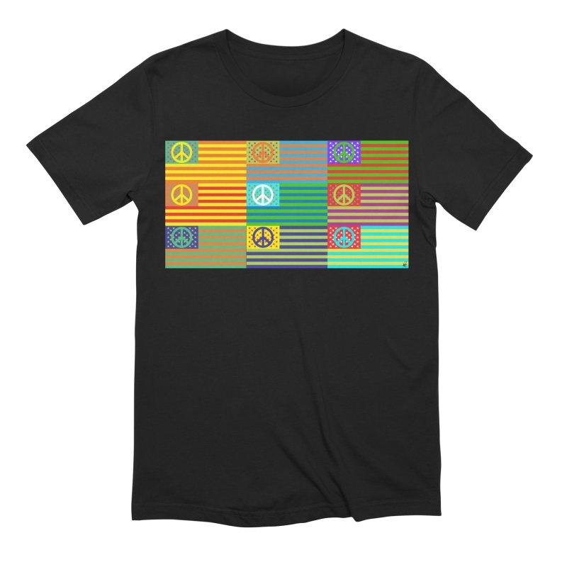 United Peace Flag Men's T-Shirt by Armando Padilla Artist Shop