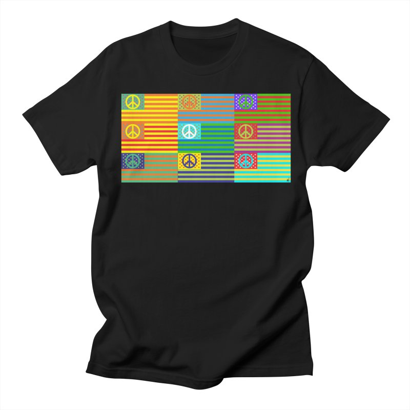 United Peace Flag Women's Regular Unisex T-Shirt by Armando Padilla Artist Shop