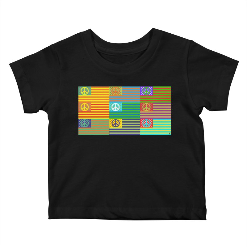 United Peace Flag Kids Baby T-Shirt by Armando Padilla Artist Shop