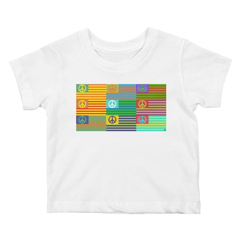 United Peace Flag Kids Baby T-Shirt by Armando Padilla Artist Shop