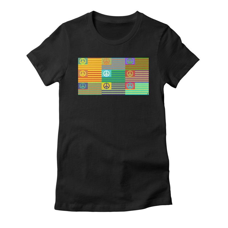 United Peace Flag Women's T-Shirt by Armando Padilla Artist Shop