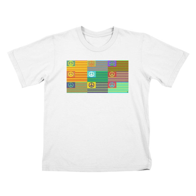 United Peace Flag Kids T-Shirt by Armando Padilla Artist Shop